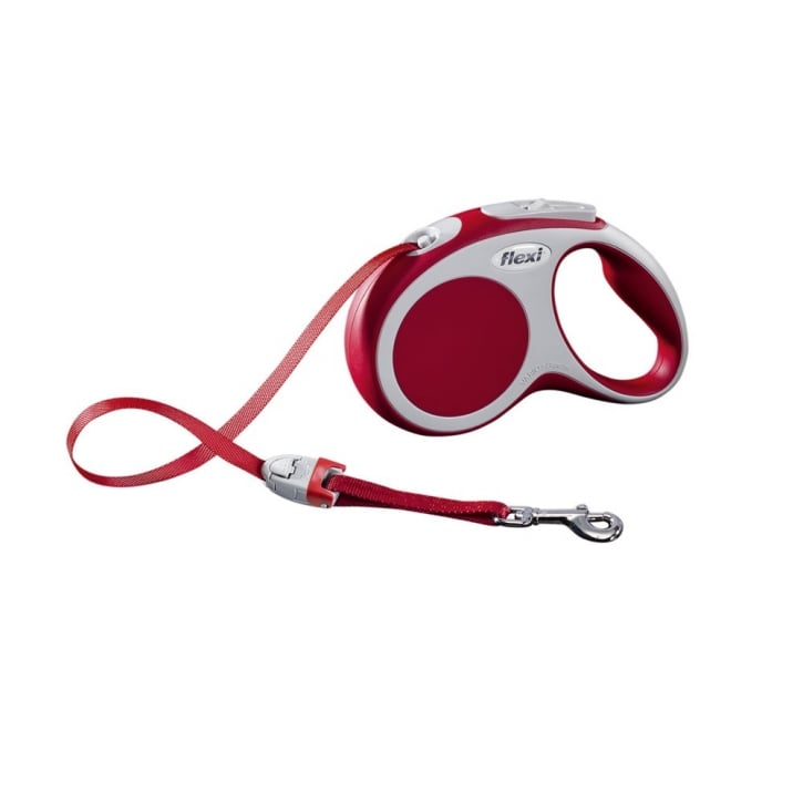 Flexi Vario Small Tape Dog Lead 5 Metres Red