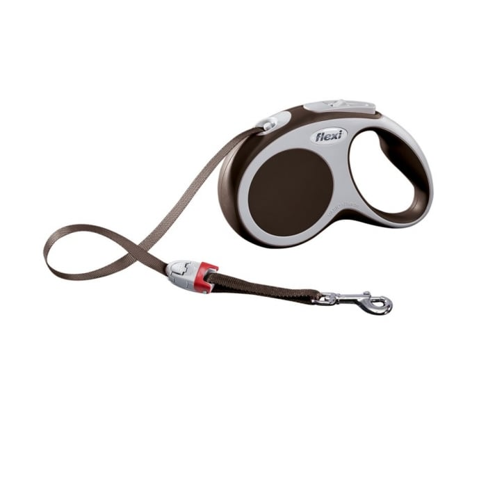 Flexi Vario Small Tape Dog Lead 5m Brown