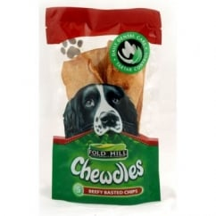 Foldhill Chewdles Dog Chews - Beef - Pack 5 Chips.