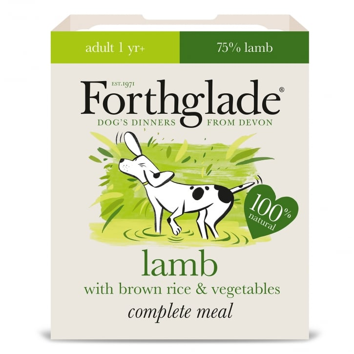 Forthglade Complete Adult Meal Lamb with Brown Rice & Vegetables 395g