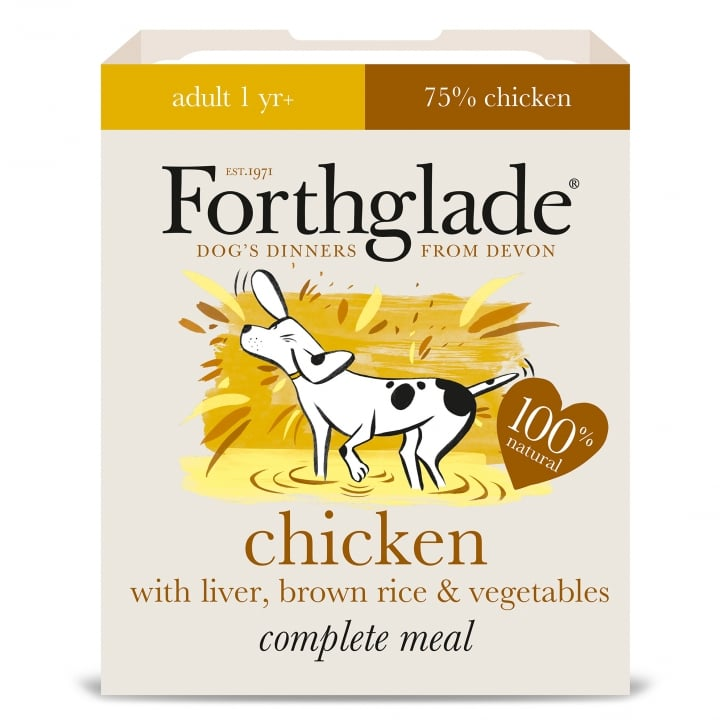 Forthglade Complete Meal Adult Chicken With Liver, Brown Rice & Vegetables 395g
