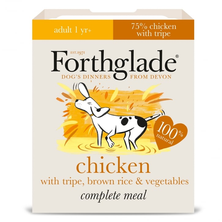 Forthglade Complete Meal Adult Chicken with Tripe, Brown Rice & Vegetables 395g