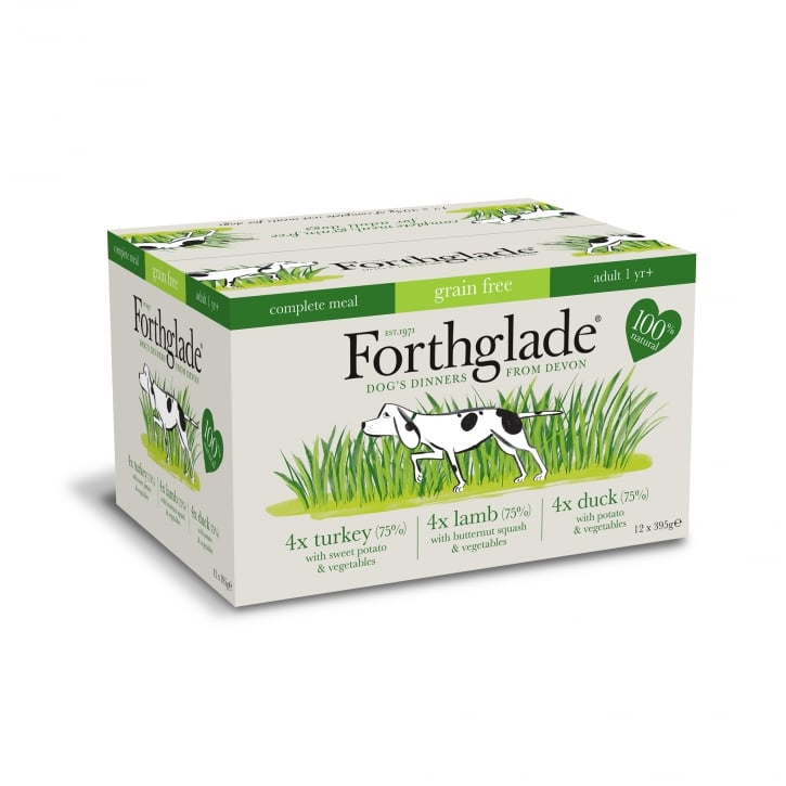 Forthglade Complete Meal Adult Multicase (Turkey,Lamb & Duck) Grain Free 12 x 395g
