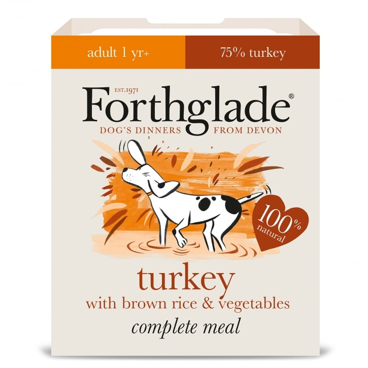 Forthglade Complete Meal Adult Turkey with Brown Rice & Vegetables 395g