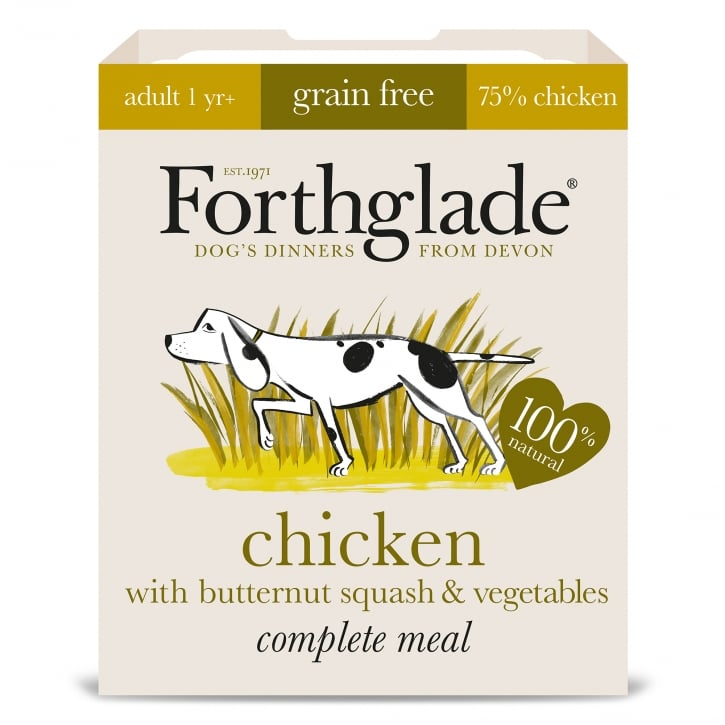Forthglade Complete Meal Grain Free Adult Chicken with Butternut Squash & Vegetables 395g