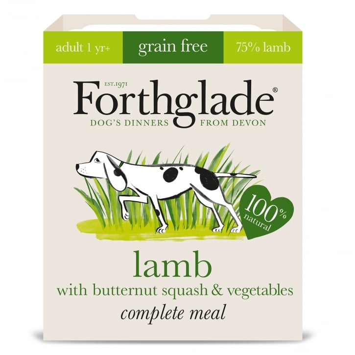 Forthglade Complete Meal Grain Free Adult Lamb with Butternut Squash & Vegetables 395g
