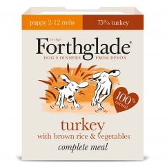Complete Puppy Turkey with Brown Rice & Vegetables 395g