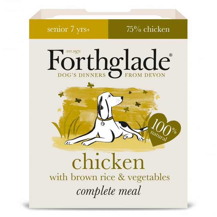 Forthglade Complete Senior Meal Chicken with Brown Rice & Vegetables 395g