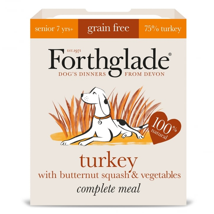Forthglade Forthglade Complete Meal Grain Free Senior Turkey with Butternut Squash & Vegetables 395g