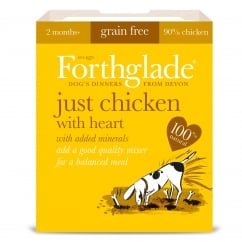 Forthglade Grain Free Just Chicken & Heart With Added Minerals 395g