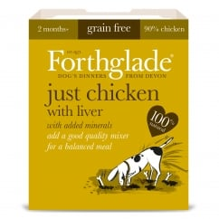 Forthglade Grain Free Just Chicken & Liver With Added Minerals 395g