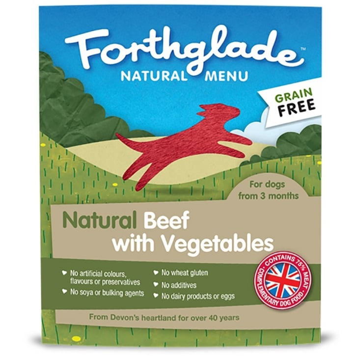 Forthglade Natural Grain Free Menu Beef & Vegetables 395g