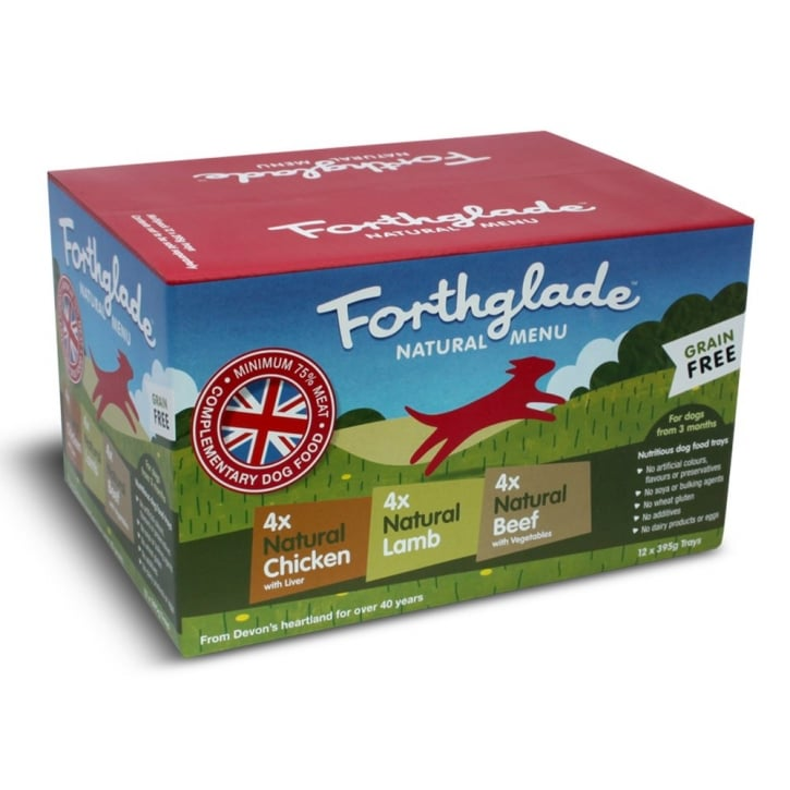 Forthglade Natural Grain Free Menu Multi Box 12 x 395g Trays