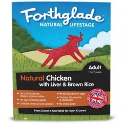 Forthglade Natural Lifestage Adult Chicken with Liver & Brown Rice 395g