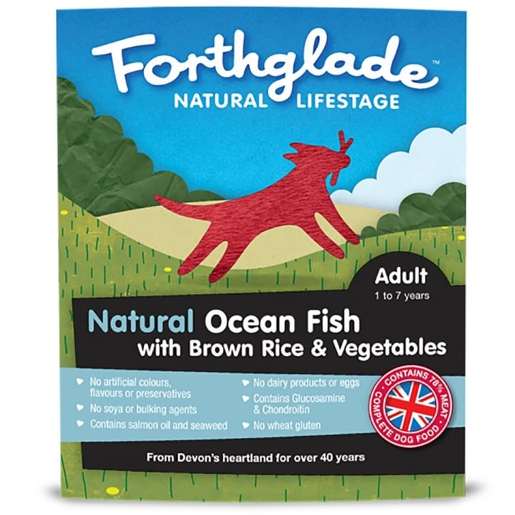 Forthglade Natural Lifestage Adult Ocean Fish with Brown Rice & Vegetables 395g