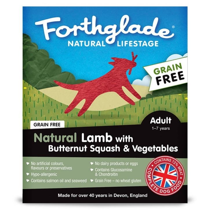 Forthglade Natural Lifestage Grain Free Adult Lamb with Butternut Squash & Vegetables 395g