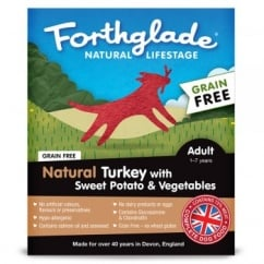 Forthglade Natural Lifestage Grain Free Adult Turkey with Sweet Potato & Vegetables 395g