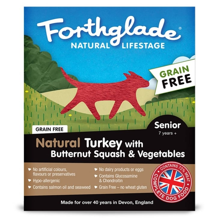 Forthglade Natural Lifestage Grain Free Senior Turkey with Butternut Squash & Vegetables 395g