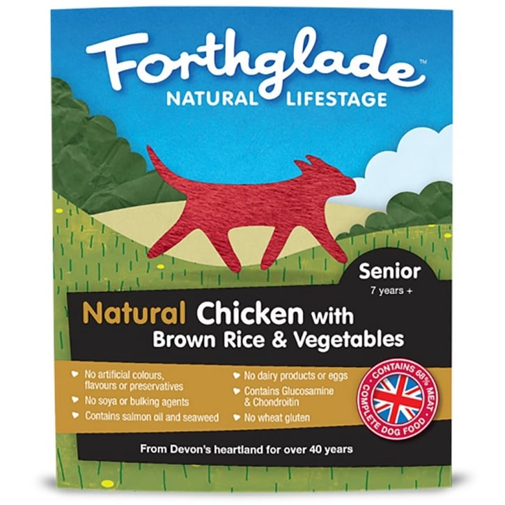 Forthglade Natural Lifestage Senior Chicken with Brown Rice & Vegetables 395g