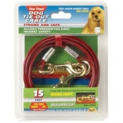 Medium Weight Dog Tie Out Cable Red - 10'