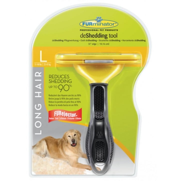 Furminator deShedding Tool Long Hair for Large Dogs