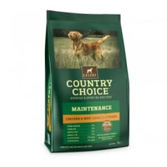 Country Choice Maintenance Chicken & Rice Adult Dog Food 2kg