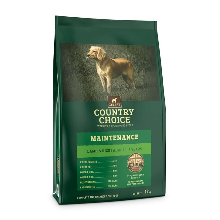 Gelert Country Choice Maintenance Lamb & Rice Adult Dog Food 12kg