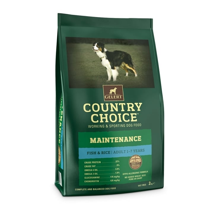 Gelert Country Choice Maintenance White Fish & Rice Adult Dog Food 2kg
