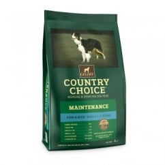 Country Choice Maintenance White Fish & Rice Adult Dog Food 2kg