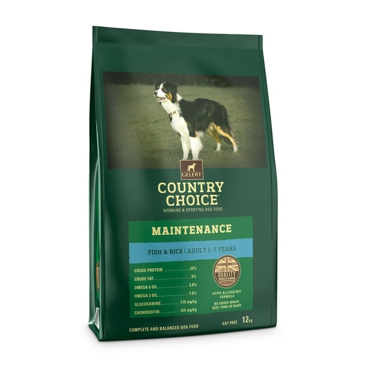 Gelert Country Country Choice Maintenance White Fish & Rice Adult Dog Food 12kg