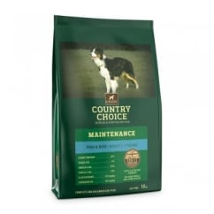 Country Country Choice Maintenance White Fish & Rice Adult Dog Food 12kg