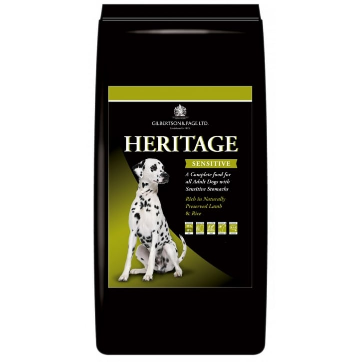 Gilbertson & Page Heritage Sensitive Dog Food Lamb 2kg