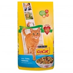 Go Cat Adult Cat with Tuna, Herring & Added Vegetables Dry Food 2kg