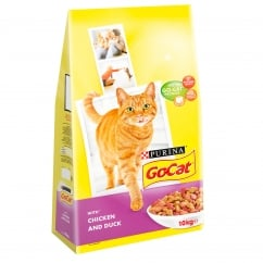 Go Cat Adult Dry Cat Food with Chicken and Duck 10kg