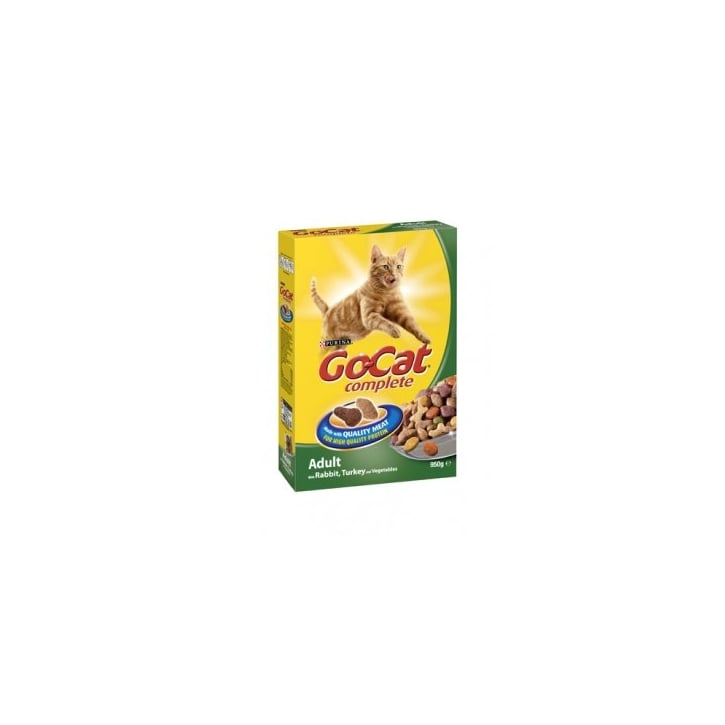 Go Cat Adult Dry Cat Food with Turkey and Added Vegetables 825g