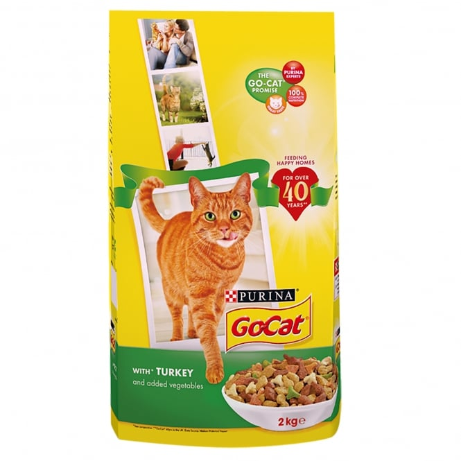 Go Cat Adult with Turkey and Added Vegetables Dry Food 2kg