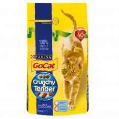 Go Cat Crunchy & Tender Adult Cat with Salmon, Tuna & Added Vegetables Dry Food 1.5kg