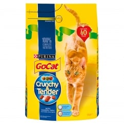 Go Cat Crunchy & Tender Adult Cat with Salmon, Tuna & Added Vegetables Dry Food 3kg