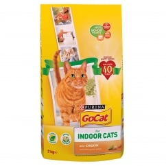 Go Cat Indoor Cat with Chicken & Added Garden Greens Dry Food 2kg