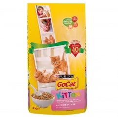 Go Cat kitten with Chicken, Milk & Added Vegetables Dry Cat Food 2kg