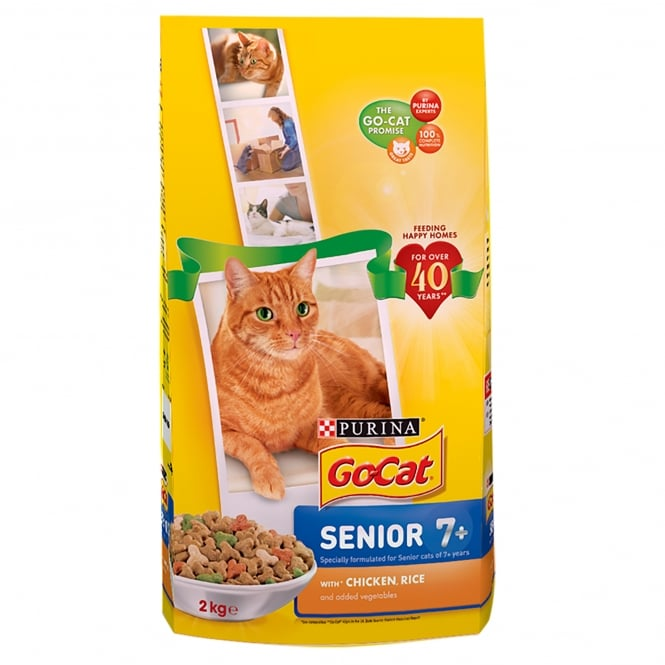 Go Cat Senior Cat with Chicken, Rice & Added Vegetables Dry Food 2kg