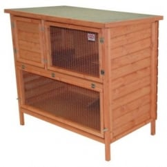Double Decker Log Lapped Rabbit Hutch 48