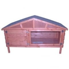 Goodspeed South East External Apex Roof Log Lap Rabbit Hutch 48""