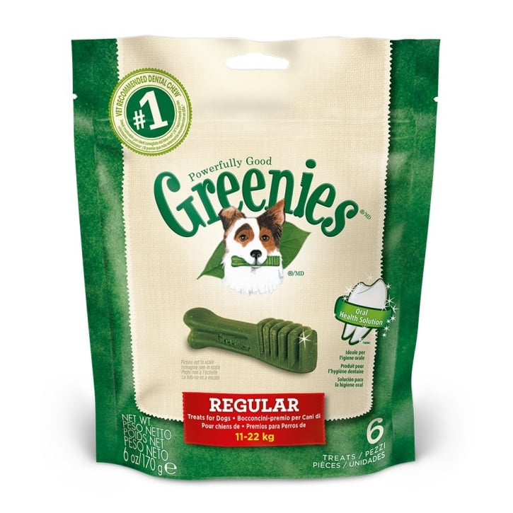 Greenies Dental Dog Treat Regular 170g Pack 6