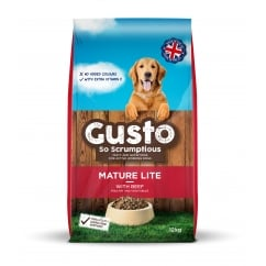 Gusto Mature Lite Dog Food Beef, Poultry & Veg 12kg