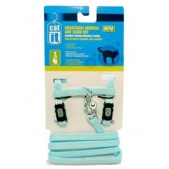 Hagen Catit Adjustable Harness And Leash Set Medium Blue.