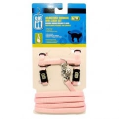 Hagen Catit Adjustable Harness And Leash Set Medium Pink.