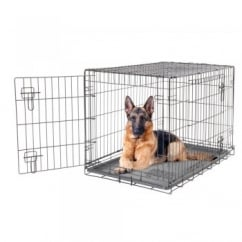 Dogit 2 Door Black Wire Dog Cage - Extra Large - Free Delivery