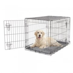 Dogit 2 Door Black Wire Dog Cage - Large - Free Delivery