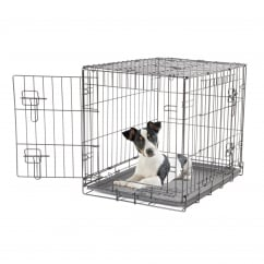 Dogit 2 Door Black Wire Dog Cage - Small